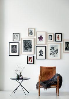 Gallerivæg/ brugt læderstol