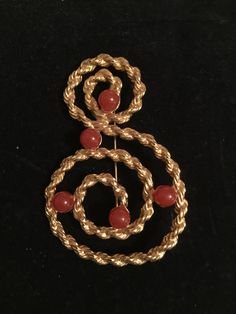 Gorgeous vintage Avon Brooch with Red Gem Accents; Great mothersday gift; Pin/Brooch by Pamsplunder on Etsy