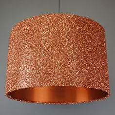 Copper Sequin And Glitter Drum Lampshade - on trend: copper