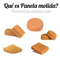 Postres Saludables | Qué es la Panela Molida (azúcar de caña 100ntegral) | http://www.postressaludables.com