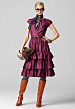 Fall 2011 - Ruffle Keyhole Dress in Plum (purple) - Milly by Michelle Smith