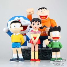31.99$  Watch here - http://ali6dh.shopchina.info/go.php?t=32296641208 - NEW Hot 16-22cm NEW 5PCS/set Doraemon action figure toys Christmas toy DL8 31.99$ #SHOPPING