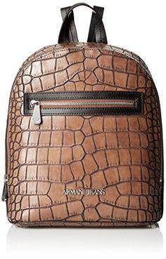 Armani Jeans Croc Printed Eco Leather Back Pack fa8d998de205b