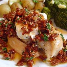 Carrabba's Chicken Bryan - use GF chicken broth and you got an amazing GF dinner!