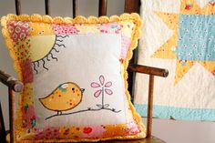 Why Not Sew?: Bright and Cheery Revisited :: A Pillow