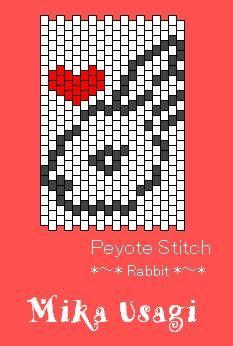 peyote stitch rabbit_heart