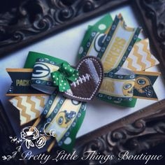 Green Bay Packers Themed Hair Bows Korkers Classic Bottle Caps U-Pick
