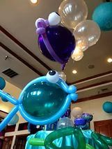 under water party balloons.