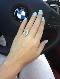 My engagement ring ❤️ 7.7 carats ❤️ diamond ring