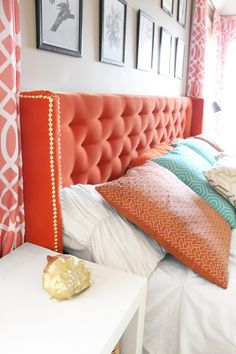 Grosgrain: DIY Wingback Tufted Headboard