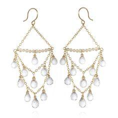 Faceted Rock Crystal Chandelier Earrings - Artisan Design Gallery