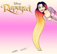 Rapunzel with Ombre Hair Disney Rapunzel, Fashion Illustrations, Ombre Hair, Famous People, Aurora Sleeping Beauty, Perfume, Disney Characters, Fashion, Fragrance