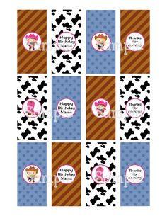 Printable Little Western Cowgirls Mini Hersheys Candy Bar Wrappers | aMerAZNStyLe - Digital Art  on ArtFire