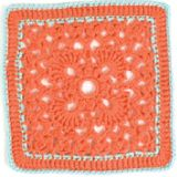Lotus Blossom ~ CROCHET AFGAN BLOCK