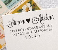 Self Inking Address Stamp - Personalized Wedding Address Stamp - Custom Address Rubber Stamp (008) on Etsy, $24.02 AUD