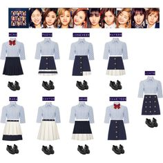 Designer Clothes, Shoes & Bags for Women Kpop Fashion Outfits, Blackpink Fashion, Stage Outfits, Korea Fashion, Dance Outfits, Girl Outfits, Cute Outfits, Twice Clothing, Kpop Girl Bands