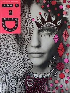 Fun Magazine Cover Doodle Art by Ana Strumpf & Hattie Stewart                                                                                                                                                                                 More