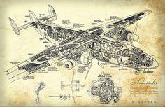 Blueprint Art of Plane Airspeed Ambassador от BigBlueCanoe на Etsy