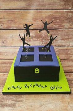 Trampolining cake www.cakesbykaren.co.uk