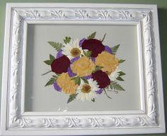Pressed Flower Art Made From Memorial Flowers.  www.pressedgarden.com