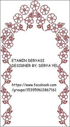 Tek renkş ilr işlenen seccade Ribbon Embroidery, Embroidery Designs, Teapot Cover, Stitch Crochet, Arabesque Pattern, Prayer Rug, Yarn Shop, Easy Crochet Patterns, Cross Stitch Flowers