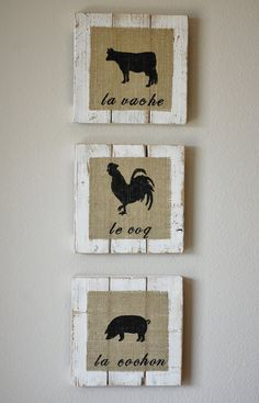 french country signs   French Country Farm Animal Signs Made of Reclaimed by SignsbyAaron