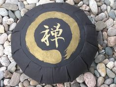 Zafu Meditation Cushion Pillow Zen Enso Black by Inspirazen, $56.99
