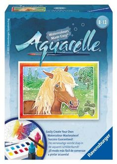 Getting creative could not be easier! Aquarelle is a brand new watercolor craft concept, which is simple yet extremely effective. The technique helps you create perfect works of art - every time. The