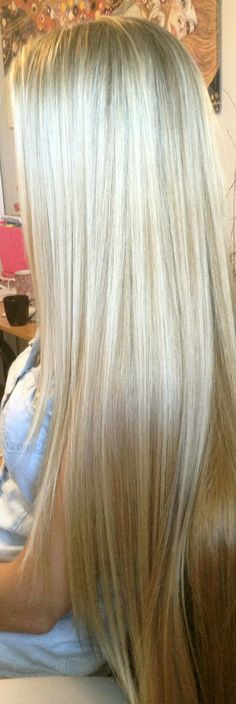 light blonde extra long hair ❤