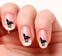 Beautiful Horse Nail Art Decals