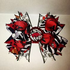 Arkansas razorback bow https://www.facebook.com/pages/Queenie-Maries-Designs/125188977507218