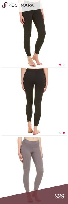 Yummie canyon skimmer leggings Yummie by heather Thompson black canyon skimmer leggings. Good condition, worn a few times & have minor pilling. I added a photo of the lighter color so you can see the details. Yummie by Heather Thomson Pants Leggings