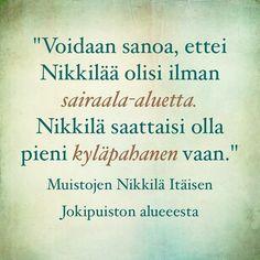 #muistojennikkilä #poimintakyselystä #plockfrånenkäten #nikkilä #nickby #sipoo #sibbo #itäinenjokipuisto #östanåparken