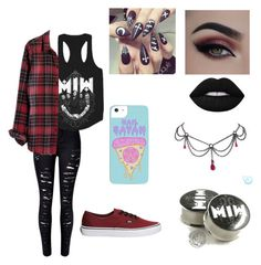 Untitled #33 by atomicriley on Polyvore featuring polyvore, Madewell, WithChic, Vans, Lime Crime, fashion, style and clothing