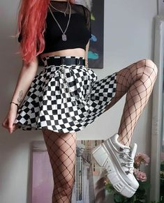 Grunge Outfits, Edgy Outfits, Style Grunge, Grunge Goth, Nu Goth, Egirl Fashion, Fashion Outfits, Cute Comfy Outfits, Cool Outfits