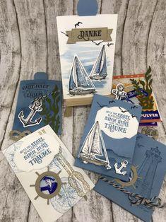 Stampin' Up! sailing home, come sail away suite Scrapbook Journal, Scrapbook Supplies, Scrapbook Cards, Nautical Cards, Beach Cards, New Year Greeting Cards, Stampin Up Catalog, Scrapbook Designs, Masculine Cards