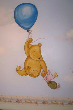 Winnie the Pooh Nursery painting. Reminds me of my Blake's nursery! :-(