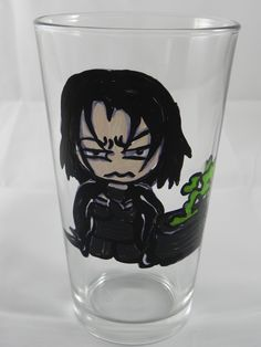 Professor Severus Snape Harry Potter Inspired Hand Painted Pint Glass by HandCraftedBy2 on Etsy