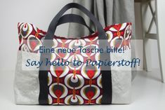 Free pattern and instructions for a large bag made of . A new bag please! Sewing Patterns Free, Free Sewing, Free Pattern, Pattern Sewing, New Bag, Diy Clothes, Bag Making, Fabric Crafts, Diaper Bag