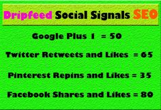 Drip Feed Social Signals from High Quality PR9 and PR10 sites for your website / Personal Profile URL with 100%  completely natural Services Offered. #dripfeedsocialsignalsservice  #seoservice #socialsignals  #SocialMedia  #facebookshares  #linkbuilding  #googleplusshare #seo