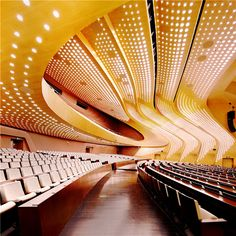 GD-lighting design illuminate the 'nanjing international youth cultural centre' which was completed by zaha hadid in Theatre Architecture, Light Architecture, Amazing Architecture, Architecture Details, Arquitetos Zaha Hadid, Zaha Hadid Architects, Zaha Hadid Projects, Auditorium Design, Youth Olympic Games