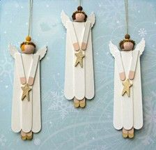 Popsicle sticks made of little angels.