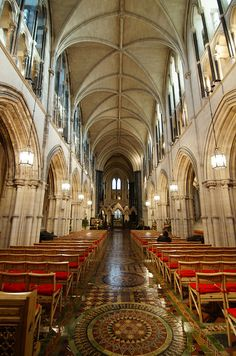 Christ Church Cathedral, Dublin, Ireland  Actually attended a Sunday church service here.  Incredible!