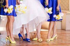 Resultado de imagem para casamento amarelo e azul