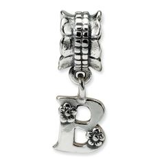 Sterling Silver Reflections Letter B Dangle Bead Real Goldia Designer Perfect Jewelry Gift for Christmas goldia. $18.25