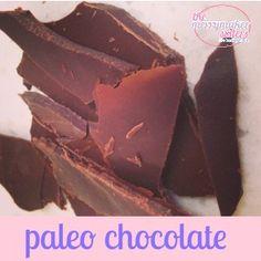 Simple, quick + easy paleo Chocolate!  FAVOURITE sweet treat!