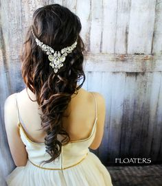 Wedding headpiece wedding headband wedding head by HairFloaters