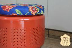 Joias da Casa Puff com tambor de lavadora wwwjoiadecasacombr