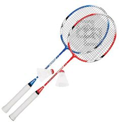 """Franklin Sports 2 Player Badminton Racquet Replacement Set metallic """"tight string"""" rackets A-grade shuttlecocks Perfect as replacements for your worn or broken rackets Great for adding additional players to your set"""