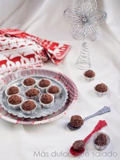 Más dulce que salado: Trufas de chocolate y turrón